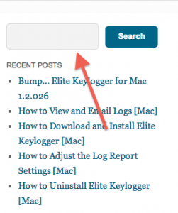elite keylogger search box