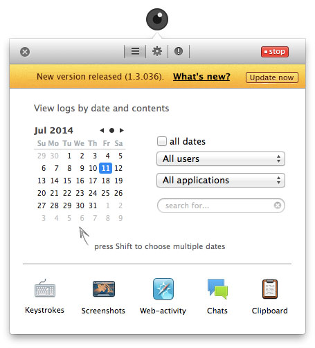New updater in Elite Keylogger for Mac