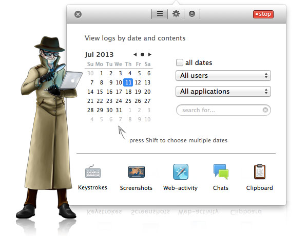 Keystroke Recorder for Mac
